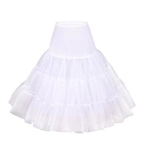 Skirt Gonna Tutu Sottovesti Petticoat Crinolina Retro E Da Annata Vintage Sottogonne Gonne Bianca Intimo Donna Sottogonna Tulle Swing Modellante 50s nSzxTqU