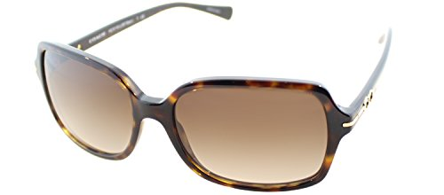 Coach Women's HC8116 Sunglasses Dark Tortoise/Brown Gradient 56mm
