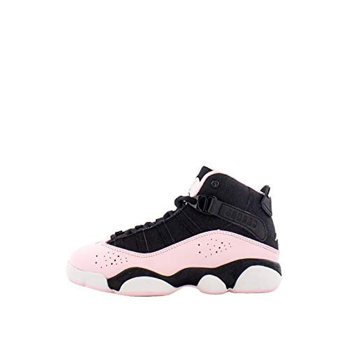 Jordan 6 Rings Black/Pink Foam-Anthracite (PS) (2 M US Little Kid) (Preschool Jordans Shoes)