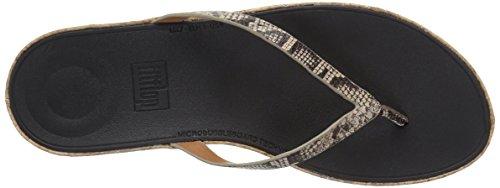 Fitflop Womens Sandalo Con Cinturino In Pelle A Punta Tinta Unita