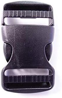 100個セット NIFCO ニフコ TDSR38 プラスチック バックル 黒 38mm巾用 ベルトの長さ調節などに