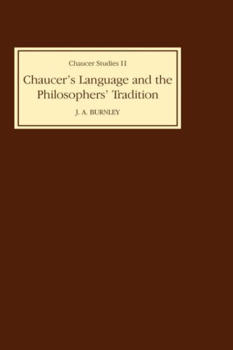 Chaucer's Language and the Philosophers Tradition (Chaucer Studies) by Brand: D. S. Brewer Rowan n Littlefield