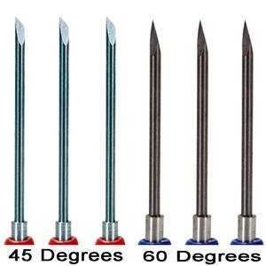 6 Pack Graphtec Type / Compatible 0.9mm 3 x 45 deg + 3 x 60 deg Replacement Blades by Graphtec America, Inc.
