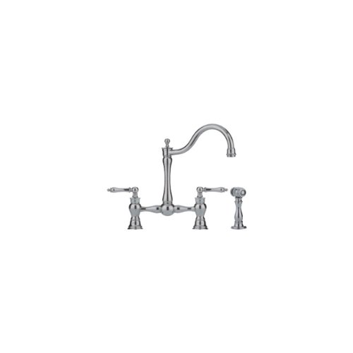 Franke FF7080A Farm House Two Handle Side-Spray Kitchen Faucet, Satin Nickel ()