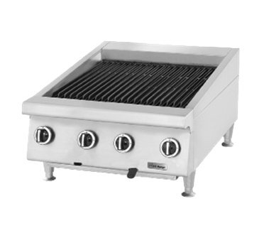 Garland UTBG36-NR36 Heavy Duty 36'' Gas Countertop Charbroiler with Cast Iron Radiants & Non-Adjustable Grates
