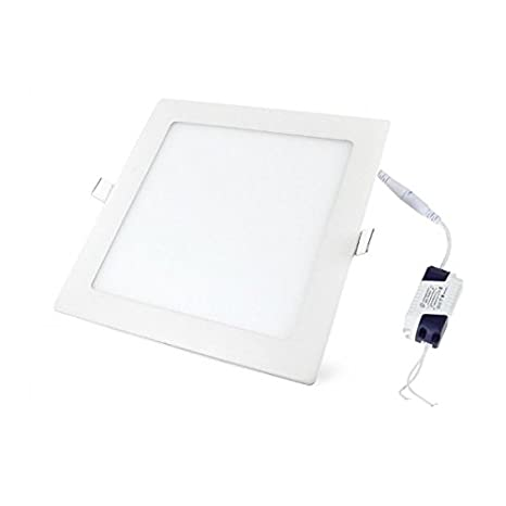 LED Panel, LED Deckenleuchte 18W Quadratisch LED PANEL 1480LM + Transformator, Warmweiss 3000K 230V (18W WW) SUPERLED