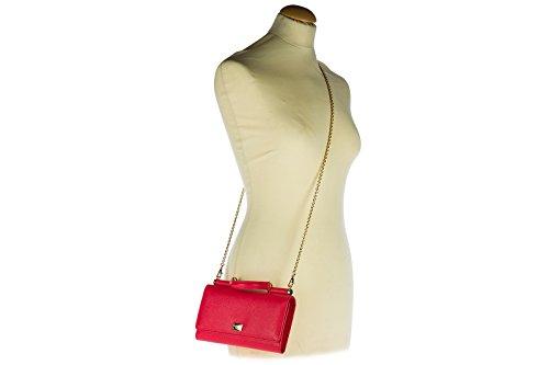 Dolce&Gabbana Pochette Handtasche Damen Tasche Leder Clutch Bag mit Schulterriem