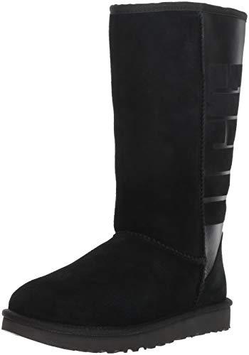 Black Tall Ugg Boots - UGG Women's W Classic Tall Rubber Fashion Boot, Black, 8 M US