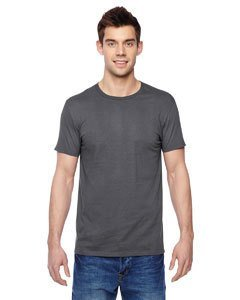Fruit of the Loom Adult 4.7 oz. Sofspun« Jersey Crew T-Shirt-Charcoal GREY-2XL