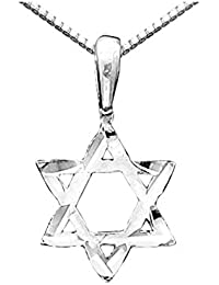 "<span class=""a-offscreen"">[Sponsored]</span>Star of David Pendant Necklace in Sterling Silver with Chain"