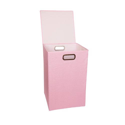 JJ Cole Heather Hamper, Pink (Nursery Clothing Hamper)