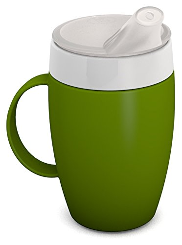 Ornamin Mug with Internal Cone 140 ml Green and Thermal Function with Spouted Lid (Model 905 + 806) | Drinking aid, Feeding Cup