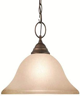Woodbridge Lighting 20002-MBZ Anson 1-Light Pendant, Marbled Bronze
