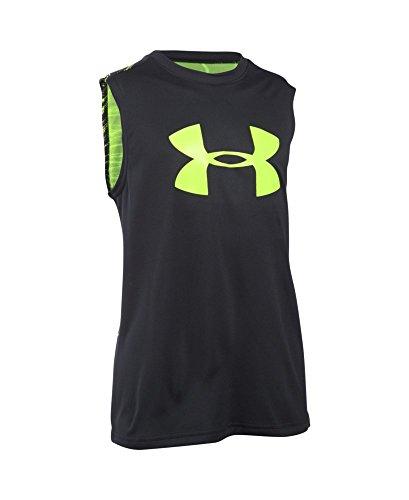 Under Armour Boys' Tech Big Logo Novelty Sleeveless T-Shirt, Black (003), Youth Medium