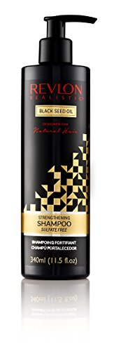 Revlon Realistic Black Seed Oil Strengthening Shampoo Sulfate-free 11.5 Oz (340ml) (Single)