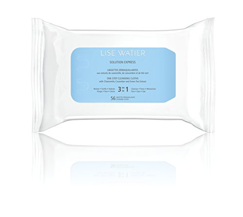 Lise Watier Solution Express Cleansing Cloths, 56 Count by Lise Watier