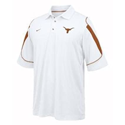 Nike Texas Longhorns Blanco rígido Brazo Rendimiento Polo, Blanco ...