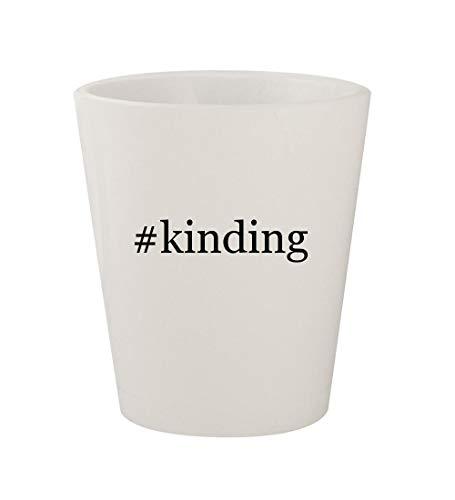 #kinding - Ceramic White Hashtag 1.5oz Shot Glass