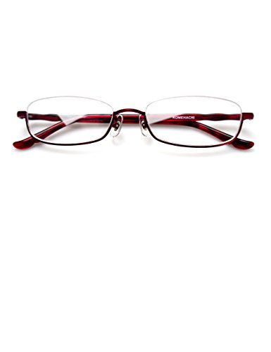 Komehachi - Rectangle/Round Semi Under Rim Clear Lens Prescription Eyeglasses - Glasses Frame Under