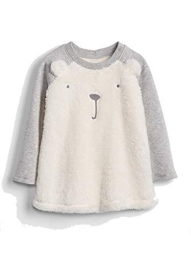 Gap Baby Girl Sweatshirt Dress (Sherpa Bear Sweatshirt Dress Ivory Frost, 12-18 M) (Dress Bear Jumper)