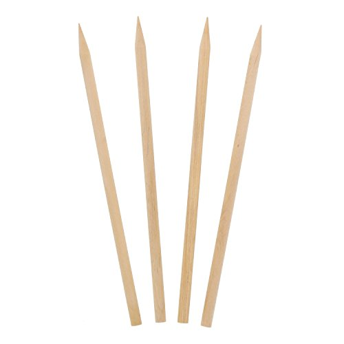 "Royal 5.5"" x 3/16"" Thick Wood Skewers for Grilling Meat,"