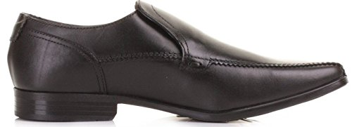 Base London Birkdale Schwarz Leder Herren Slip On Schuhe