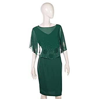 Dekelte Green Mixed Special Occasion Dress For Women