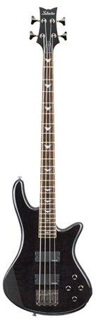 Schecter Stiletto Extreme-4 Bass Guitar (4 String, See-Thru Black) from Schecter