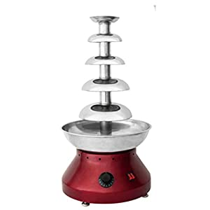 5 layer tie 304 stainless steel party use Automatic temperature control chocolate fondue fountain price machine commercial steady heat chocolate processing machine with CE in kiosk for sale