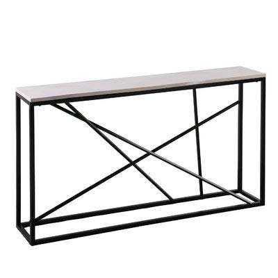 Small Skinny Tall Entry Table Console Under The Window Table with Marble Tabletop and Metal Frame for Living Room + Basic Design Concepts Expert Guide