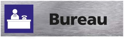 Plaque de Porte D/éfense de Fumer Rouge Dimensions 170 x 50 mm Double Face Adh/ésif au Dos Aluminium Bross/é Inoxydable