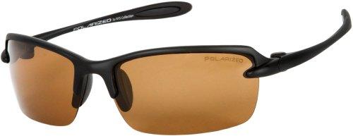 Sunglass Warehouse Adventurerer #5340 Matte Black Frame with Amber Lenses Unisex Sport & Wrap-Around Sunglasses