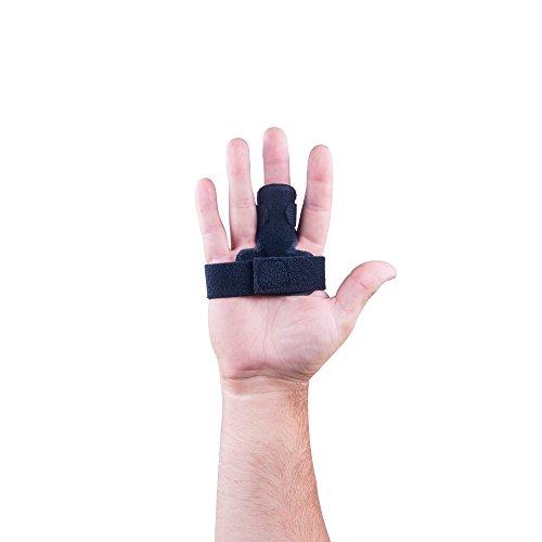 Version améliorée | réglable Attelle de doigt de déclenchement avec innovant en mousse pour un maximum de confort - Noir | Designed in the UK.