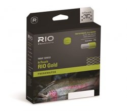 RIO Products Fly Line Intouch-Rio Gold Wf5F, Moss-Gray-Gold
