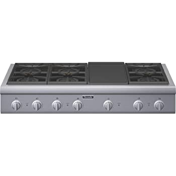 thermador 48 cooktop. thermador professional : pcg486gd 48 pro-style gas rangetop 6 pedestal star burners, griddle cooktop 3