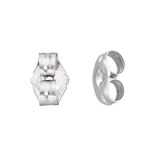 14k White Gold Small Replacement Earring Backs Pair