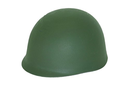 Jacobson Hat Company Men's Army Helmet, Green, Adult (Adult Simple Halloween Costumes)