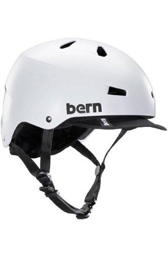 Bern Unlimited Macon EPS Summer Helmet with Visor, Satin White, Small/Medium