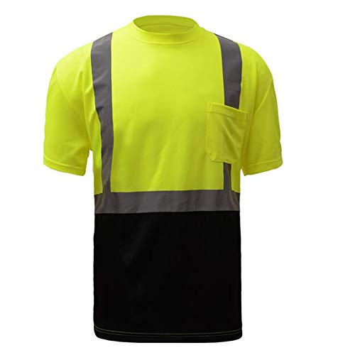 5 PACK: Class 2 Black Bottom T-Shirt (Tall: Large) GSS Safety by GSS SAFETY (Image #1)