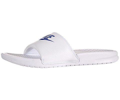 Nike Benassi JDI Mens Sandals White/Varsity Royal/White 343880-102 (13 D(M) US)
