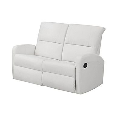 Monarch Specialties I 84WH-2 Reclining Loveseat in White Bonded Leather  sc 1 st  Recliner.store & White Recliners u2013 Recliner.store islam-shia.org