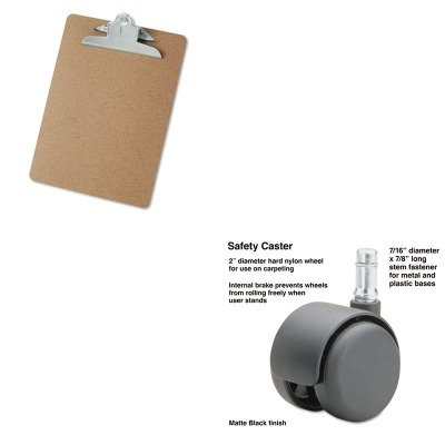 KITMAS64234UNV40304 - Value Kit - Master Caster Safety Casters (MAS64234) and Universal 40304 Letter Size Clipboards (UNV40304)