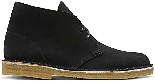 Clarks Originals Men's Desert Boot, Black Suede, 10.5 M (Suede Desert Boot Cleaner)