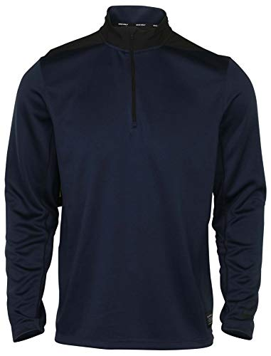 Nike Tiger Woods Pullover - Nike Dry Top Half Zip Core OLC Golf Pullover 2019 Obsidian/Obsidian/Black Medium