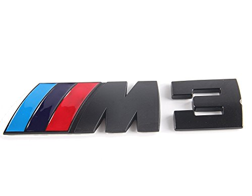 xybzzpltd M3 Black Badge 3D Matted Metal Plating Sticker Chrome Emblem FOR BMW Available