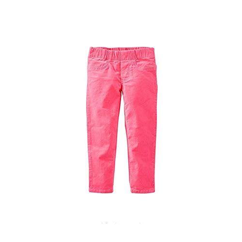 OshKosh B'Gosh Girls' Jeggings 6M-14 (10, Pink Corduroy)