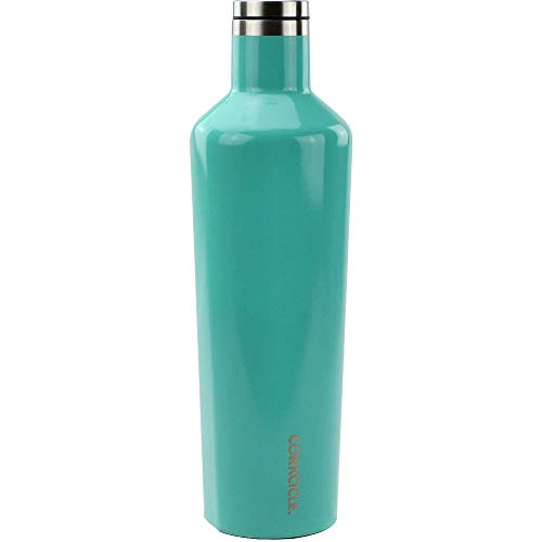 (Corkcicle Canteen - Water Bottle and Thermos - Keeps Beverages Cold for Over 25, Hot for Over 12 Hours - Triple Insulated with Shatterproof Stainless Steel Construction - Turquoise - 25oz/750ml )