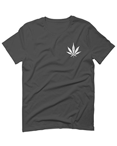 VICES AND VIRTUESS Vintage Weed Leaf Marihuana Mota High Stoned Day Retro COOLFor Men T Shirt (Charcoal - Leaf Marihuana