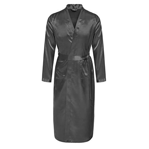 48a8bb86c5 Surenow Albornoz Pijama Camisón Robe Bata Ropa de Dormir para Hombre Satín  delicate