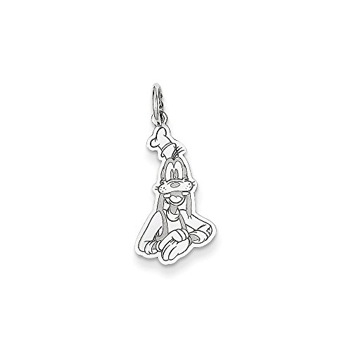 Solid 925 Sterling Silver Disney Goofy Pendant Charm (11mm x 23mm) Goofy Jewelry